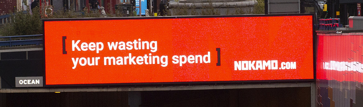 Keep pissing away your marketing spend